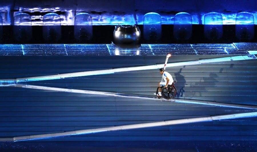 Escaliers rétractables - Cérémonie Jeux paralympiques de Rio