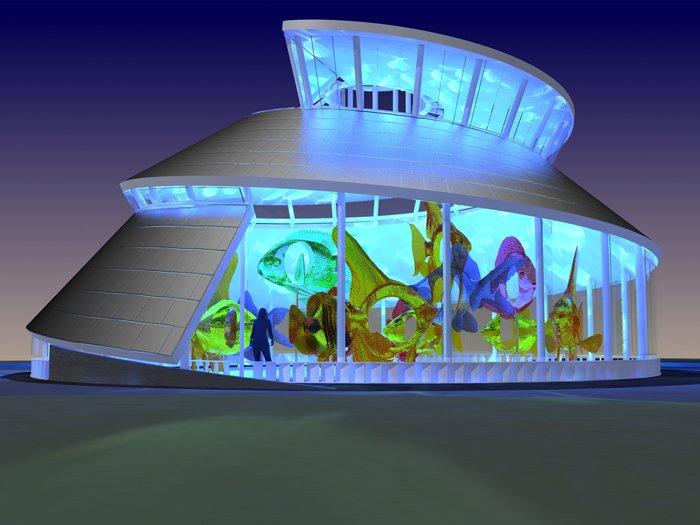 Concept du bâtiment Seaglass Carrousel
