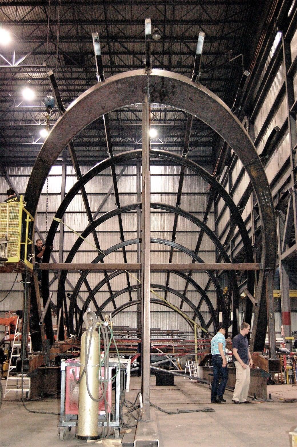Fabrication de la structure dans notre usine