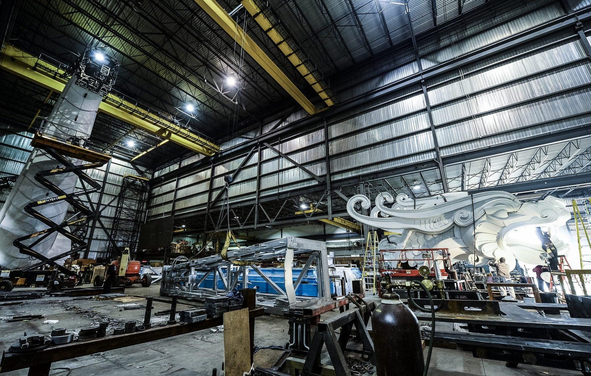 Fabrication du dragon dans notre usine