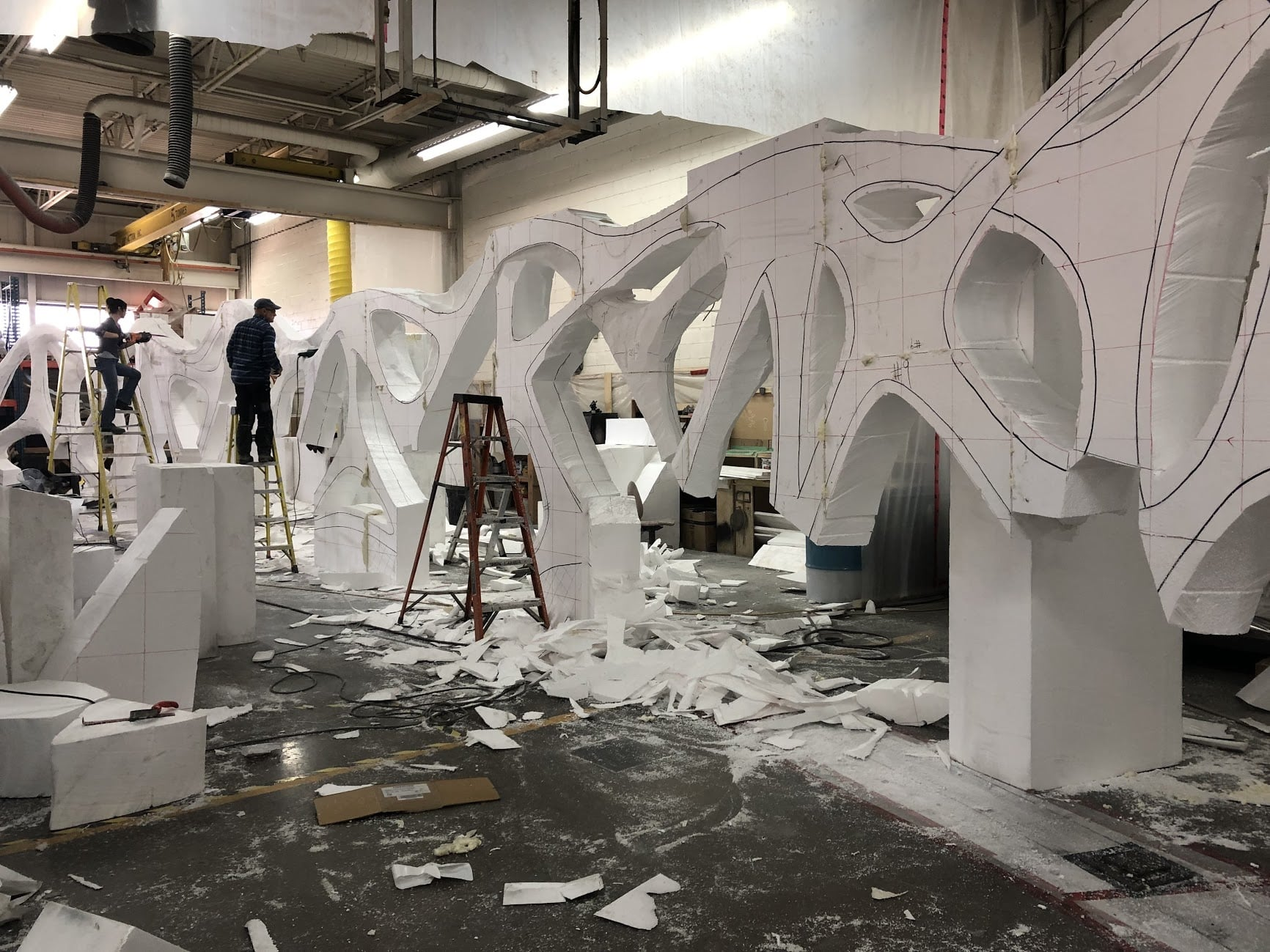 Fabrication des murs organiques dans notre usine