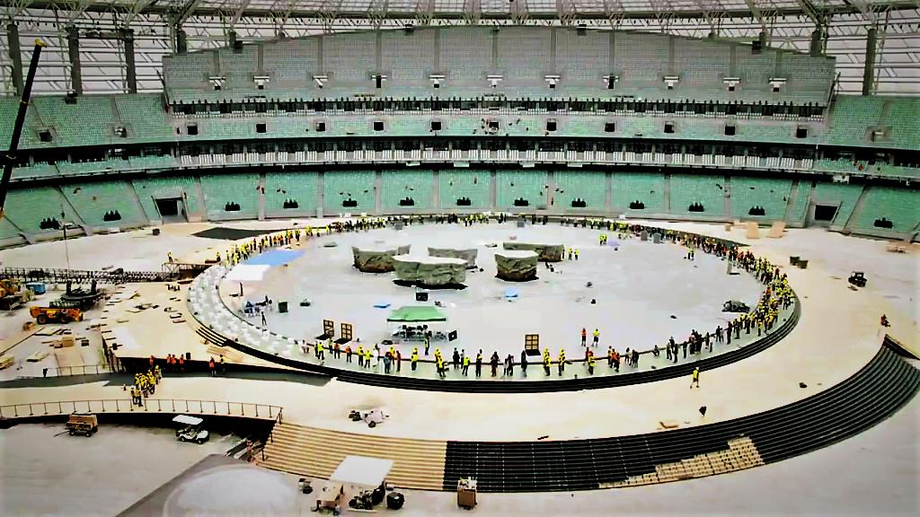 Installation scène - Jeux européens de 2015