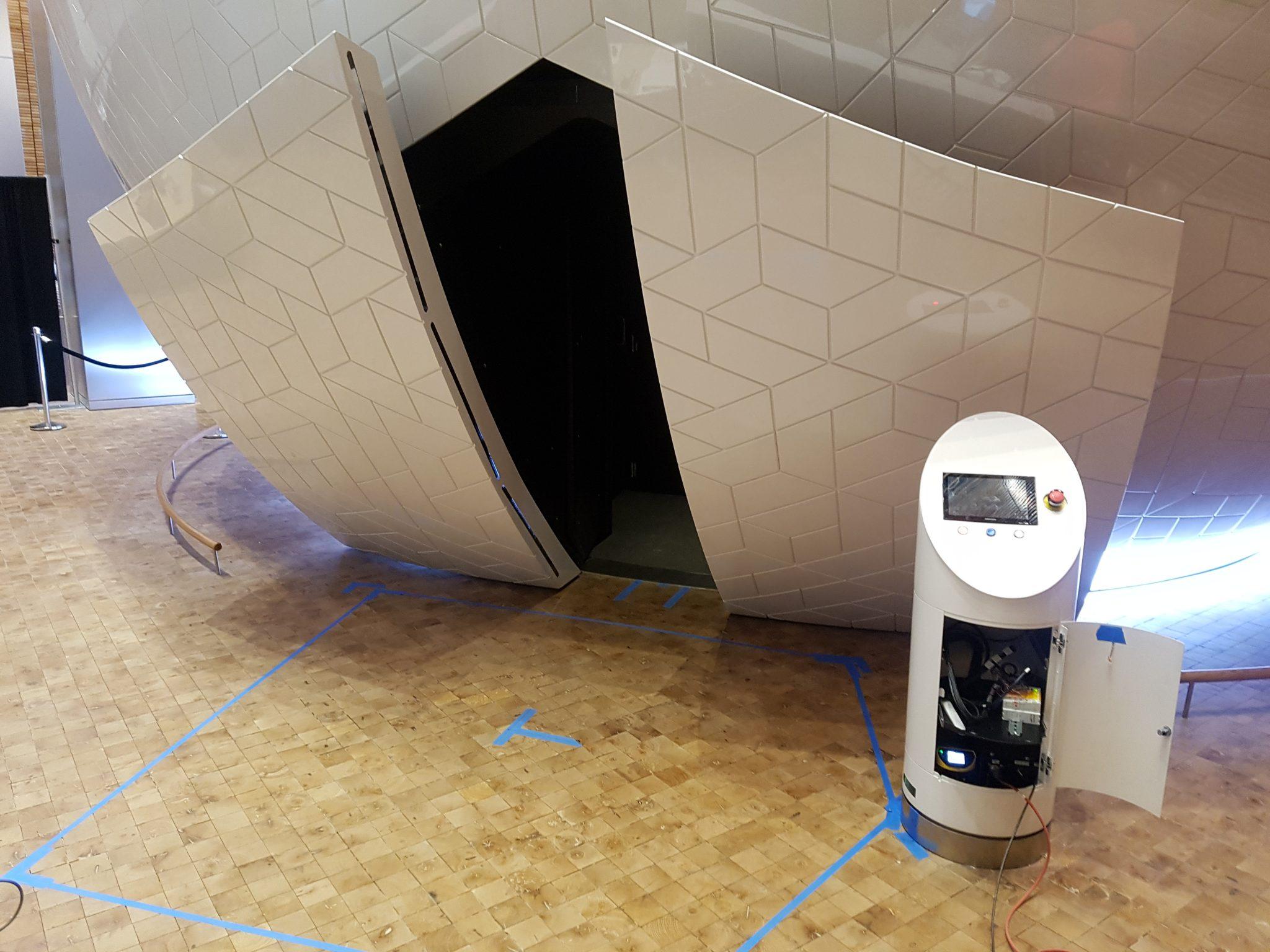 Portes automatisées et la station de contrôle