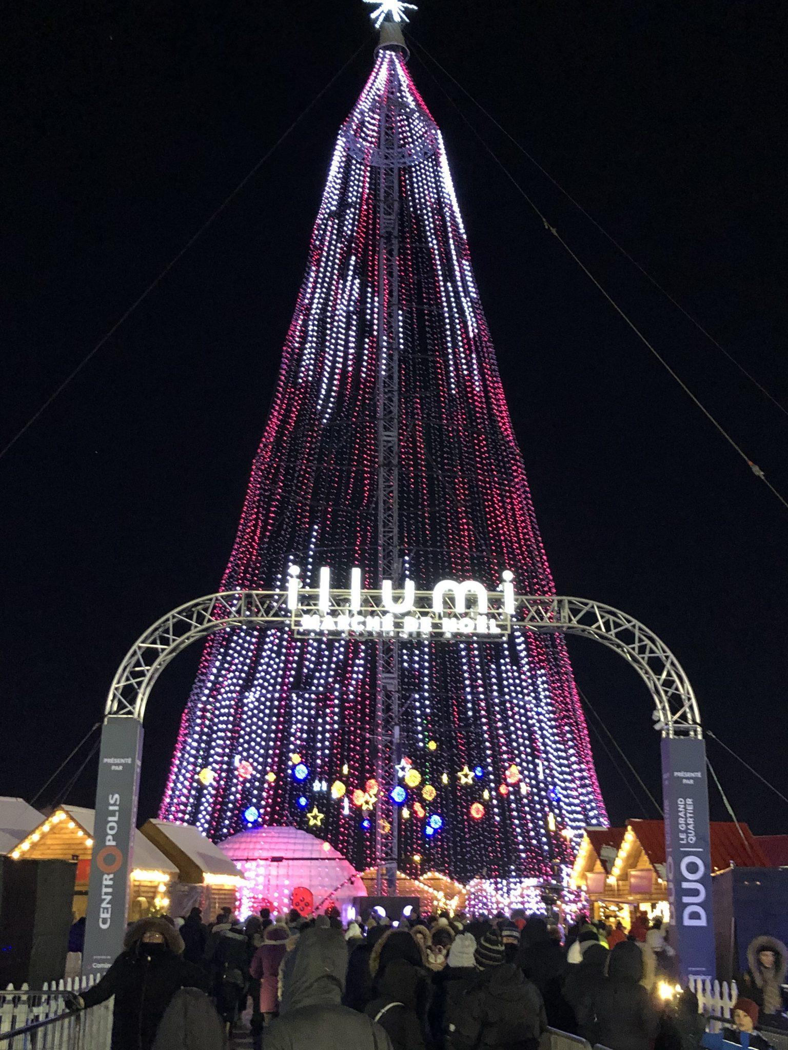 L'arbres des lumière sur le site Illumi