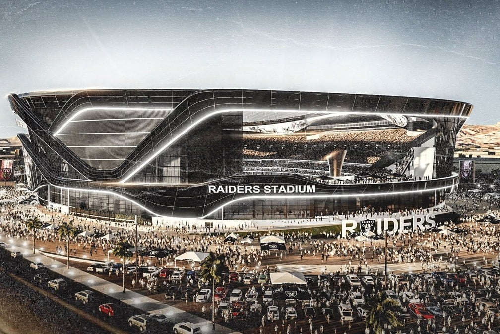 Retractable columns - Raiders Stadium