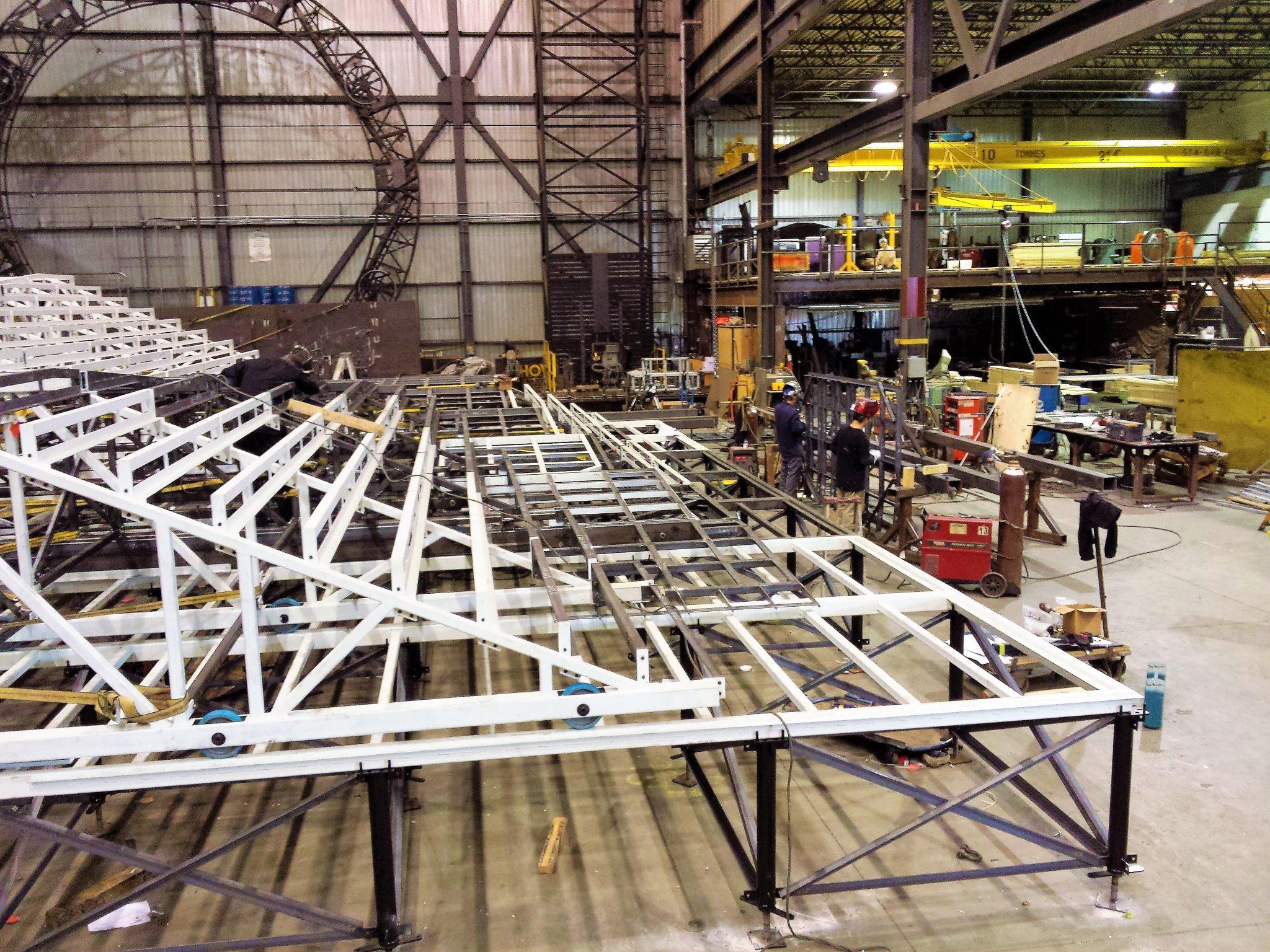Fabrication des escaliers en usine